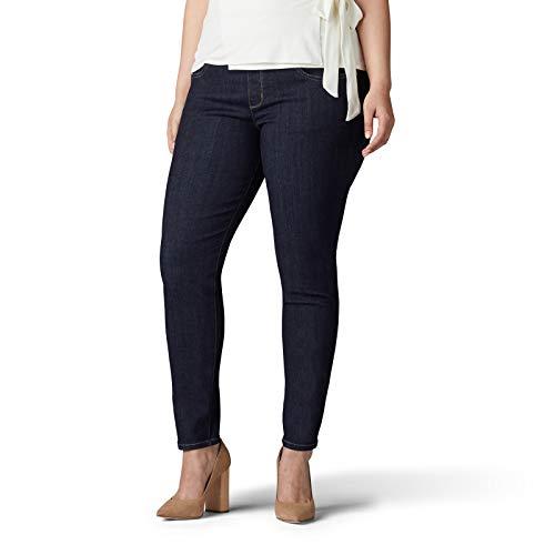 Lee Women's Plus Size Sculpting Slim Fit Skinny Leg Pull on Jean, Slumber, 20W Medium