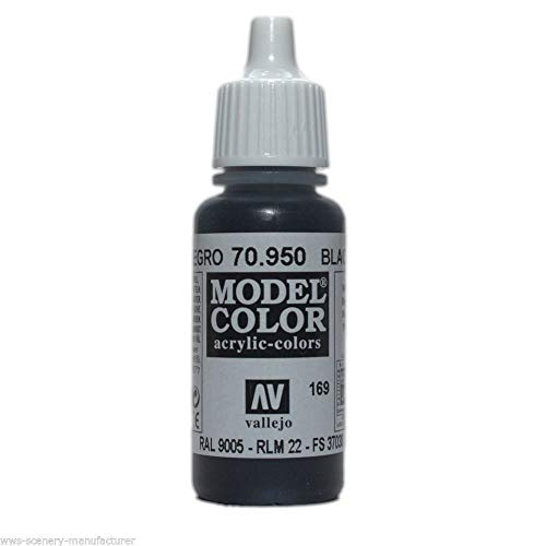 War World Gaming Vallejo Model Color Black/Grey - Black 70.950 - Wargame Miniature Figure Painting Assortment Modelling Wargaming Hobby Tabletop Model Paint Collection