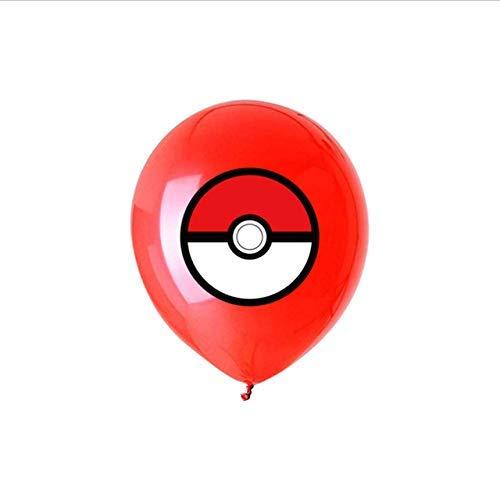 Cartoon Pokemon Helium-Luftballons Kindergeburtstag Dekoration Ballon-Kind-Spielzeug-Kinder 20pcs Ballon s Day ZHNGHENG