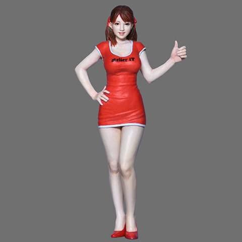 PANGCHENG 1/24 Grid Girl B Kit de Resina Figura GK Tema Humano japonés Realidad Sin Recubrimiento Sin Color