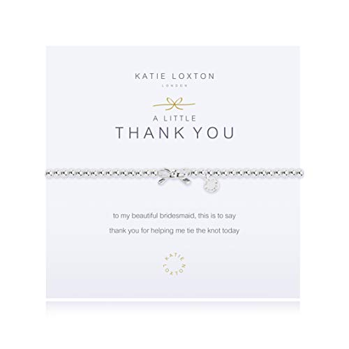 Katie Loxton A Little Bridesmaid Silver Women's Stretch Adjustable Charm Bangle Bracelet