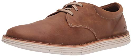 Clarks mens Forge Vibe Oxford, Tan Leather, 10.5 US