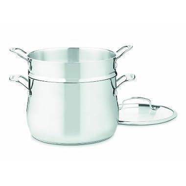 Cuisinart 44-22 Contour Stainless 6-Quart, 3-Piece Pasta Pot with Cover