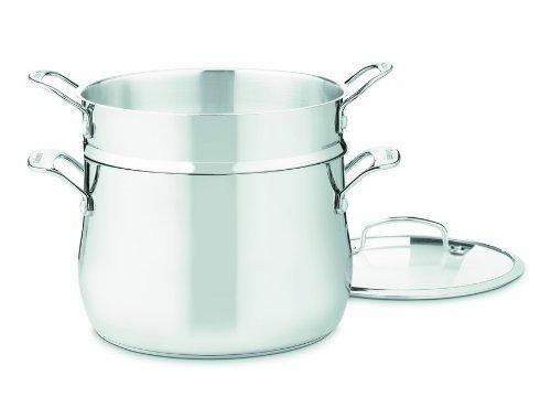 Cuisinart Contour Stainless 6-Quart, 3-Piece Pasta Pot with Cover