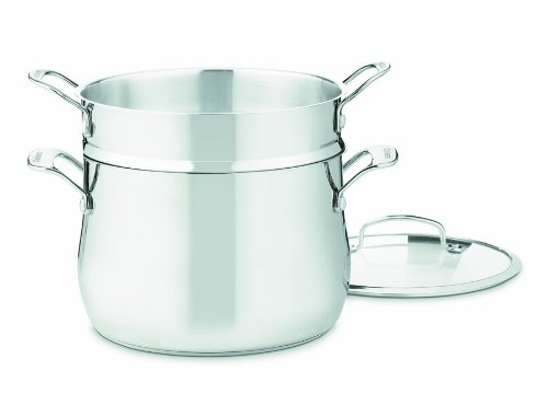 Cuisinart Contour Stainless 6-Quart, 3-Piece Pasta Pot with Cover