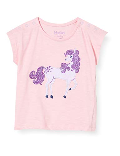 Hatley Baby-Mädchen Short Sleeve T-Shirt, Rosa (Purple Pony 650), 3-6 Monate