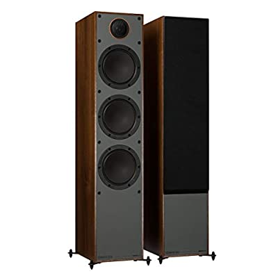 MONITOR AUDIO 300 Floorstanding Speakers, Walnut Black by Monitor Audio