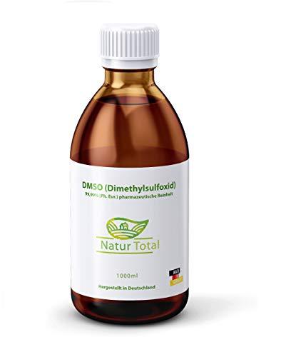 DMSO 99,9% Reinheit Dimethylsulfoxid 1000ml: Apothekerflasche 99,99% (Ph. Eur.) pharmazeutische Reinheit/Qualität - zertifiziert nach dem europäischen Arzneibuch - Hergestellt in Deutschland