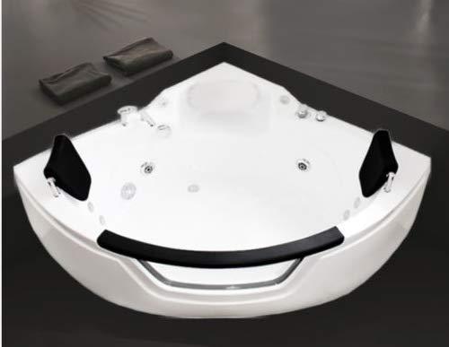 """Oimex Whirlpool""""Kopenhagen ECO 3838"""" kompakter Eckwhirlpool mit Fenster für 2 Personen 140 x 140 cm"""
