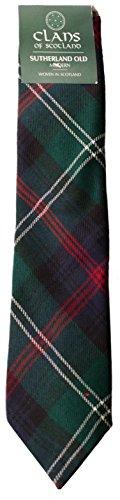 I Luv Ltd Sutherland Old Modern Clan 100% Wool Scottish Tartan Tie