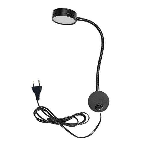 Onerbuy Lámpara de lectura de aplique de pared de cuello de cisne flexible Obras de arte Demostración de luz de acento Soporte de lámpara de punto con interruptor de encendido / apagado (Negro cálido