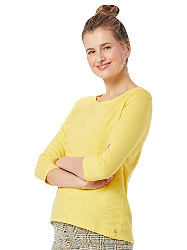 TOM TAILOR Denim Damen Leichtes Strukturshirt Bluse, Golden Summer, XL