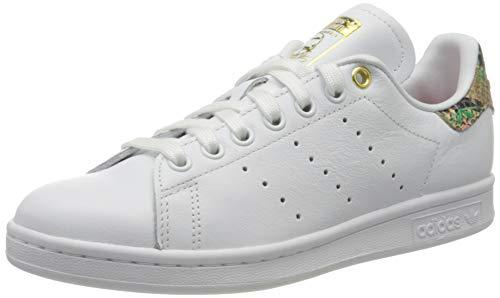 adidas Damen Stan Smith W Sneaker, FTWR White/Scarlet/Gold Met, 37 1/3 EU