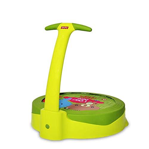 Yuhao Trampolín para niños, Color Verde, para Uso en el hogar, para Uso en Interiores y Exteriores, para bebés de 1 a 3 años de Edad