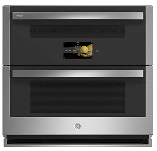 """GE Profile PTS9200SNSS 30"""""""" Built-In Twin Flex Convection Wall Oven with 5 cu. ft. Capacity WiFi Connect and True European Convection with Direct Air in Stainless Steel"""