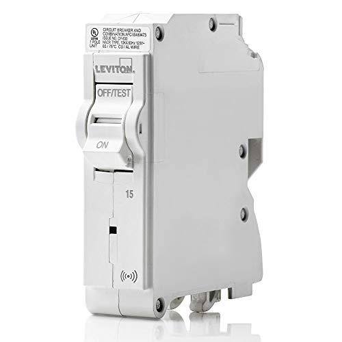 Leviton LB115-S 15 Amp, 1-Pole Plug-on Smart Standard Branch Circuit Breaker, 120 VAC, White