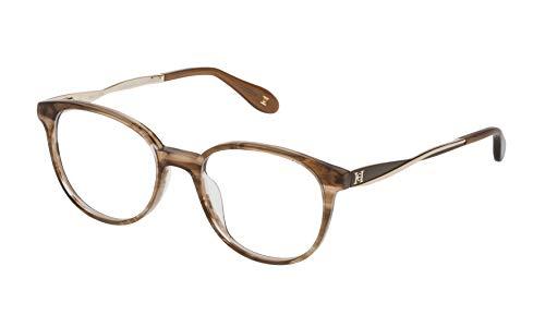 Carolina Herrera VHN580M5009BK Gafas, Shiny Brown Horn/Pearl/Beige, 50/18/140 para Mujer