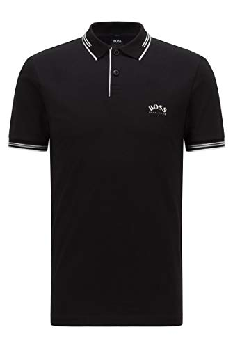 BOSS Paul Curved 10196402 01 Polo, Charcoal15, L Homme