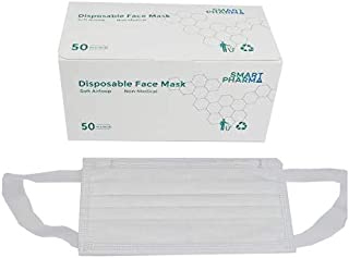 FACE MASK SMART 3PLY (white) Soft Ear loop