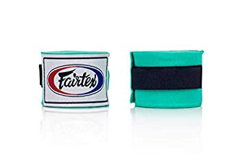 Fairtex Elastic Cotton Handwraps HW2-120 and 180 - Full Length Hand Wraps Many Colors  Mint Green 180 inches