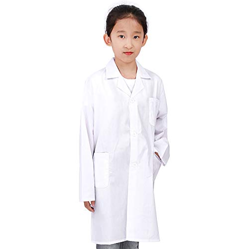 Kids Lab Coat, Mini Doctor's Dress Up for School Presentation, Dr Halloween costume Size L(8-10)