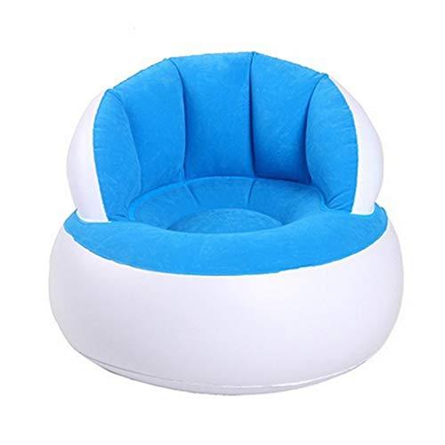 Aufblasbares Sofa Aufblasbare Baby Stuhl tragbare Babysitze Essen Mittagessen Stuhl Sitzen Fütterung Stuhl Stretch Wrap Baby Sofa Keine Aufblaspumpe 58x53CMBlue