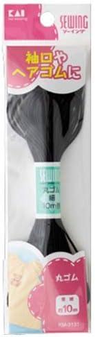 Sewing Kai Bargain KM3131 Round Rubber Fine Approx. Black Finally popular brand 10m