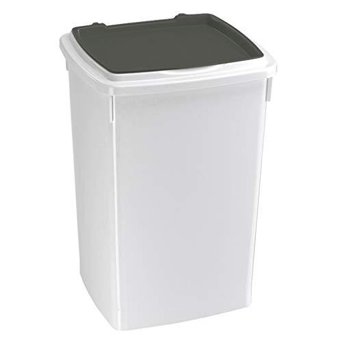 Jlxl 13L, 26L, 39L huisdier voedsel container, plastic afval Bin met klep deksel voor kat hond Bin recycling, XL, C