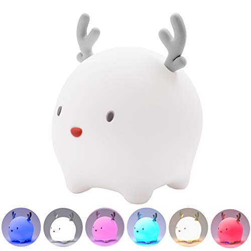 Night Lights for Bedroom, Sleep Breathing Lamp for Kids, Touch Control Rechargeable Cute Nightlights for Baby Nursery Gift