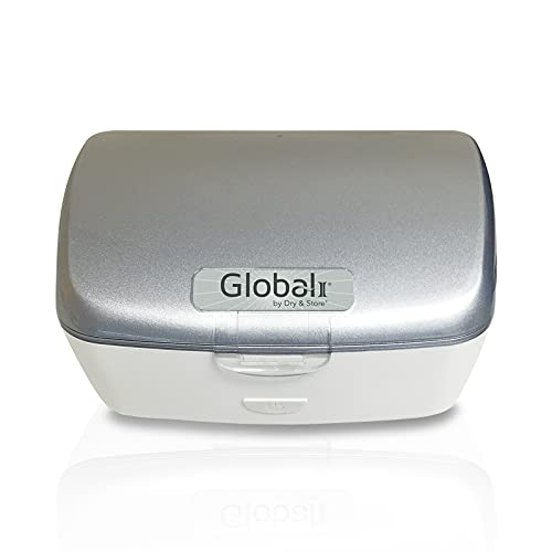 Global II by Dry & Store | Electric Hearing Aid Dehumidifier with UV-C Lamp Sanitizer