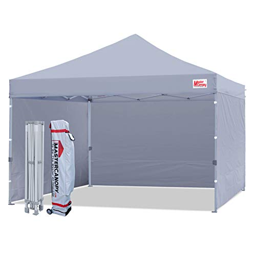 MASTERCANOPY Durable Pop-up Canopy Tent 12x12 Heavy Duty Instant Canopy with Sidewalls (Gray)