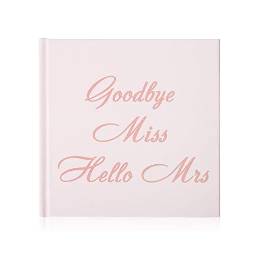 Naler JGA Gästebuch Roségold Hochzeitsbuch Goodbye Miss Hello Mrs Junggesellinnenabschied Fotoalbum für Hochzeit Bachelor Hen Party