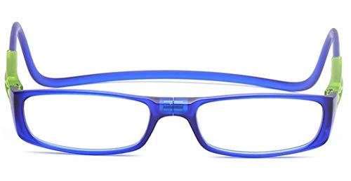 PANGHU Gafas de Lectura Dioptrías Hombre Mujer Regulables Imantadas Magnéticas Plegables Lentes Cierre Imán para colgar alrededor del cuello