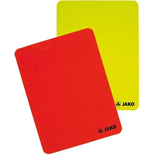 JAKO Karten-Set Schiedsrichter Juego de Tarjetas de árbitro, Unisex Adulto, Rojo y Amarillo, Talla única