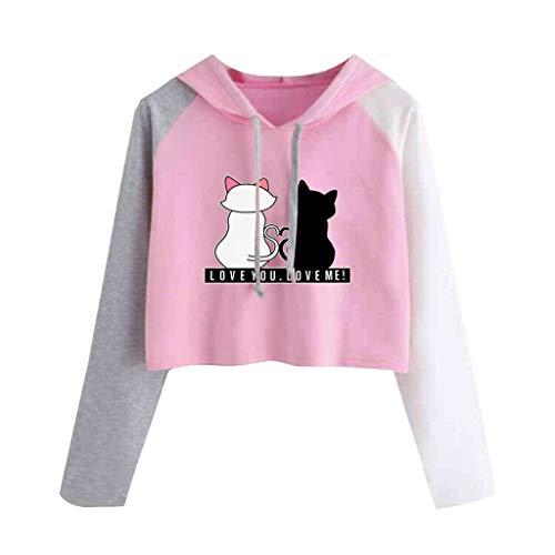 Fossen Sudaderas Mujer Tumblr Cortas Adolescentes Chicas - Casual Juveniles Camiseta con...