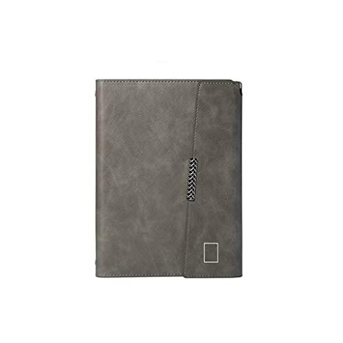 Riyyow A5 Cuero Diario Cuaderno 6 Anillo Cuaderno Cuaderno y Revista Diario de Viajes Durable Cuaderno (Color : Greyb)