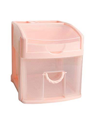 Courage Ouyang - Caja de almacenamiento de cosméticos multifuncional para 1er piso, color rosa