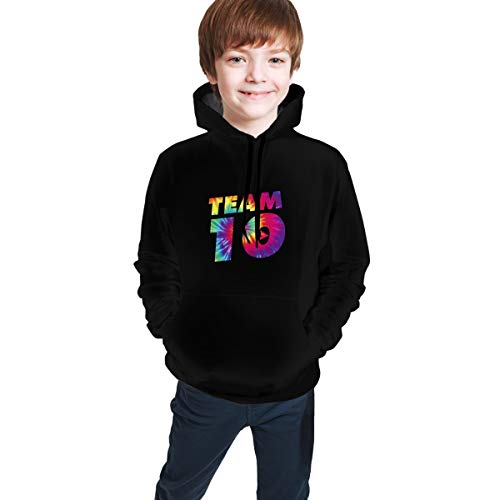 Colorful Team 10 3D Printed Athletic Sweatshirts Pullover Hoodie With Pocket For Youth Boys Girls