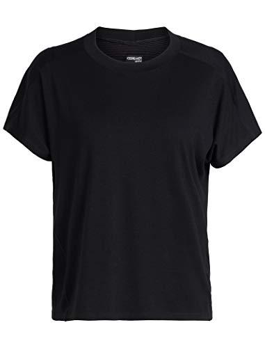 Icebreaker Merino Kinetica T-Shirt à Manches Courtes et col Rond pour Femme XS Noir
