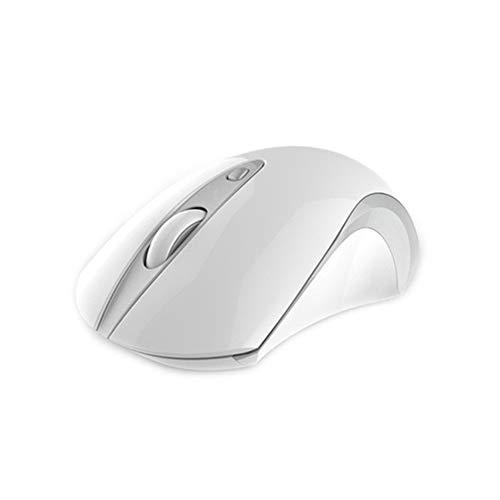 L-yxing obra de arte Silencio 2.4G ratón inalámbrico ratón ergonómico 1600DPI botón de silencio ratón óptico del ratón del ordenador portátil PC (con receptor USB) Cable USB inalámbrico de juegos de e