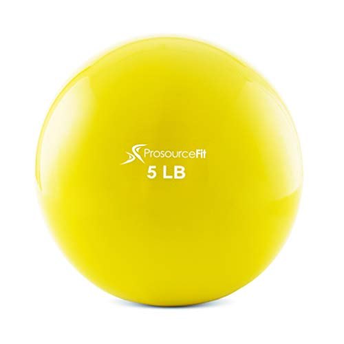 ProsourceFit Weighted Toning Exercise Balls for Pilates Yoga Strength Training and Physical Therapy 5 lb Color Coded