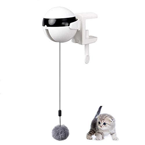 Gxklmg Gato interactiva Juguetes, Pelota de Juguete del Gato de elevación eléctrico automático, la Bola de Juguete electrónico para Gatos de Interior Gatito Ejercicio Juguetes