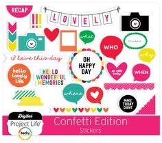Project Life Sticker Accessories-Confetti-Chipboard (27 Piece)