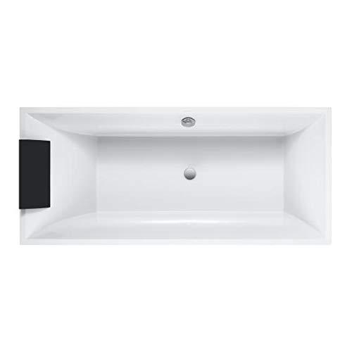 Villeroy und Boch Badewanne Quaryl Rechteck Squaro Duo Slim Line, UBQ170SQS2V-, 1694x744mm, inkl. Wannenfüße, Farbe: weiß-Alpin