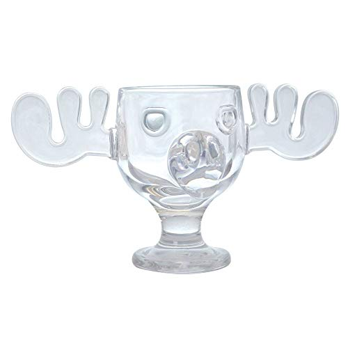 Officially Licensed Christmas Vacation 8 Ounce Glass Moose Mug - Set of 8