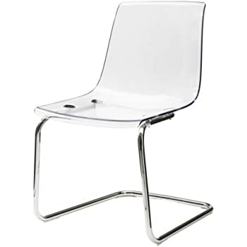 TOBIAS grey, chrome plated, Chair IKEA