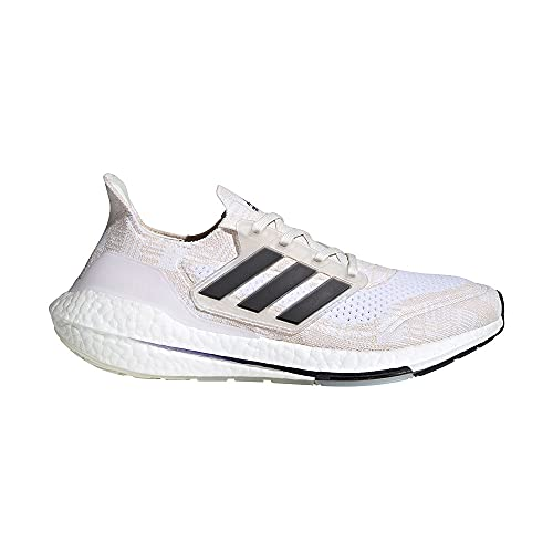 adidas Ultraboost 21 Primeblue Running Shoes, Non Dyed/Core Black/Night Flash - 13.5 UK