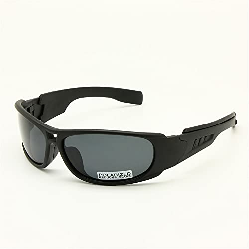 EnzoDate Daisy One C6 polarizado Gafas de Sol Gafas de Militares del ejército de ballstic RX Insert Agencia de Guerra Juego tactico Gafas (Negro, Polarizado)