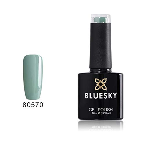 Bluesky Smalto Per Unghie Gel, Sage Scarf, 80570, Blu, Pastello, Pallido (Per Lampade Uv E Led) - 10 Ml