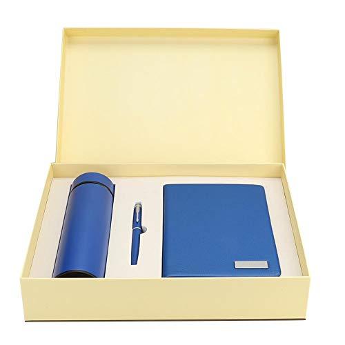 Alvinlite Set de Regalo, 3Pcs/Set Business Gift Set - Bolígrafo de Cuaderno con Taza de vacío para Regalo de graduación
